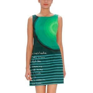 Desigual dress with writing. Conversation piece!